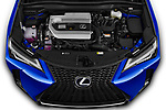 Car Stock 2019 Lexus UX F-Sport-4wd 5 Door SUV Engine  high angle detail view