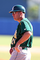 North Dakota State Bisons Tod Brown #21 during a game vs Bradley Braves at Chain of Lakes Park in Winter Haven, Florida;  March 17, 2011.  Bradley defeated North Dakota State 6-5.  Photo By Mike Janes/Four Seam Images