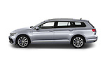 Car Driver side profile view of a 2020 Volkswagen Passat GTE 5 Door Wagon Side View