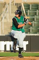 Luke Anders #35 of the Augusta GreenJackets at bat against the Kannapolis Intimidators at Fieldcrest Cannon Stadium June 24, 2010, in Kannapolis, North Carolina.  Photo by Brian Westerholt / Four Seam Images
