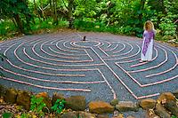 Proprietor Eve Hogan walks the labyrinth at the Sacred Garden of Maliko, Makawao, Maui