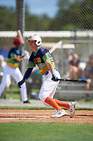 Treyton Rank during the WWBA World Championship at the Roger Dean Complex on October 19, 2018 in Jupiter, Florida.  Treyton Rank is a right handed pitcher from Acworth, Georgia who attends Dominion Christian School.  (Mike Janes/Four Seam Images)