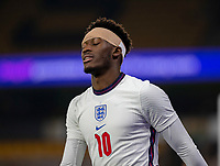 13th October 2020; Molineux Stadium, Wolverhampton, West Midlands, England; UEFA Under 21 European Championship Qualifiers, Group Three, England Under 21 versus Turkey Under 21; Callum Hudson Odoi of England with his eyes closed after a missed shot at goal