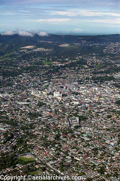 aerial photograph of San Salvador, El Salvador | fotografía aérea de San Salvador, El Salvador