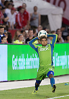 August 10, 2013: Seattle Sounders FC defender DeAndre Yedlin #17 in action during an MLS regular season game between the Seattle Sounders and Toronto FC at BMO Field in Toronto, Ontario Canada.<br /> Seattle Sounders FC won 2-1.