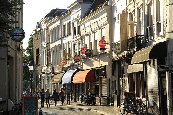 Main Street in Breda, Holland, the Netherlands.