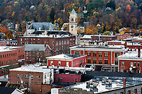 Autumn cityscape of downtown Montpellier, Vermont