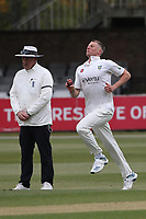 Brydon Carse in bowling action for Durham during Essex CCC vs Durham CCC, LV Insurance County Championship Group 1 Cricket at The Cloudfm County Ground on 15th April 2021