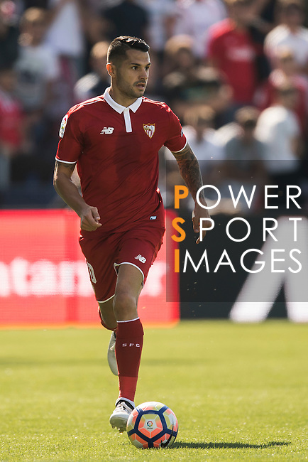 in action during their La Liga match between Deportivo Leganes and Sevilla FC at the Butarque Municipal Stadium on 15 October 2016 in Madrid, Spain. Photo by Diego Gonzalez Souto / Power Sport Images