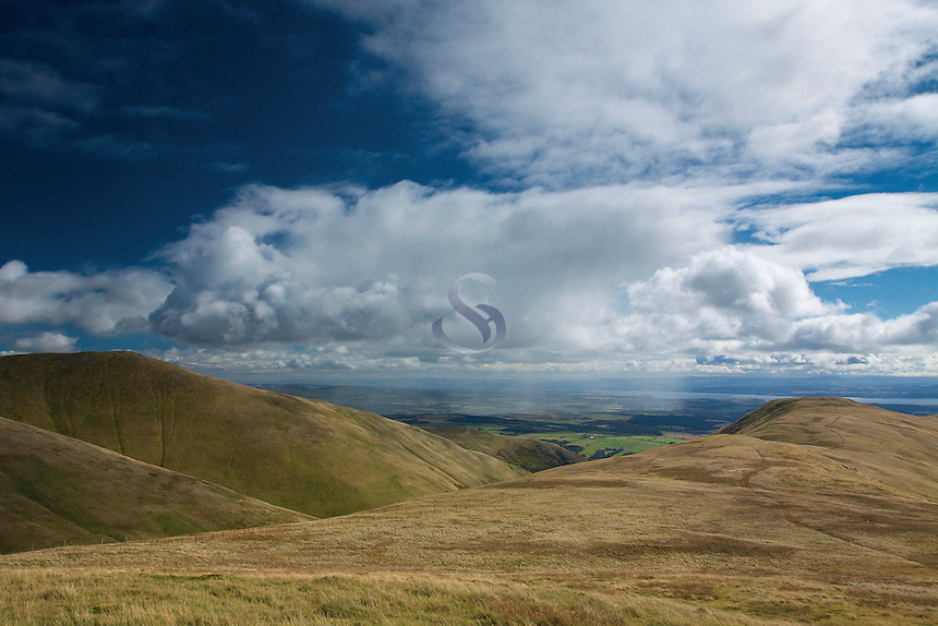 The Law, Wood Hill, The River Forth and the Forth Valley from Ben Ever, the Ochil Hills, Tillicoultry, Clackmannanshire
