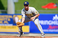 Michigan Wolverines infielder Jack Sexton #19 during an exhibition game against the New York Mets at Tradition Field on February 24, 2013 in St. Lucie, Florida.  New York defeated Michigan 5-2.  (Mike Janes/Four Seam Images)