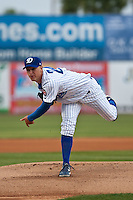 Pitcher Eric Jokisch #24 of the Daytona Cubs delivers a pitch during a game against the Brevard County Manatees at Jackie Robinson Ballpark on April 6, 2012 in Daytona Beach, Florida. (Scott Jontes / Four Seam Images)