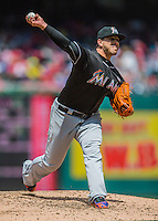 15 May 2016: Miami Marlins pitcher Jose Fernandez on the mound against the Washington Nationals at Nationals Park in Washington, DC. The Marlins defeated the Nationals 5-1 in the final game of their 4-game series.  Mandatory Credit: Ed Wolfstein Photo *** RAW (NEF) Image File Available ***