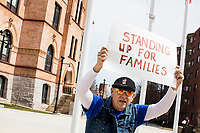 Immigrants Rights Rally after ICE Raid Rumor - Michelle DuBois - Coalition for Social Justice - Broc