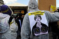 GERMANY Hamburg, big rally against nuclear power after Fukushima accident in Japan / DEUTSCHLAND, Hamburg, DEMO fuer Atomausstieg nach Havarie im AKW Fukushima in Japan, Plakat mit Bild der Bundeskanzlerin Angela Merkel
