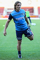 Gareth Ainsworth (Manager) of Wycombe Wanderers warms up after naming himself as a substitute ahead of The Checkatrade Trophy match between Northampton Town and Wycombe Wanderers at Sixfields Stadium, Northampton, England on 30 August 2016. Photo by David Horn / PRiME Media Images.