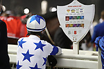 March 27 2021: Scenes from the post parade before the running of the Dubai World Cup at Meydan Racecourse, Dubai, UAE. Shamela Hanley/Eclipse Sportswire/CSM