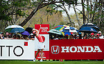 CHON BURI, THAILAND - FEBRUARY 20:  Michelle Wie of USA tees off on the 2nd hole during day four of the LPGA Thailand at Siam Country Club on February 20, 2011 in Chon Buri, Thailand. Photo by Victor Fraile / The Power of Sport Images