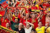 Belgium fans celebrate