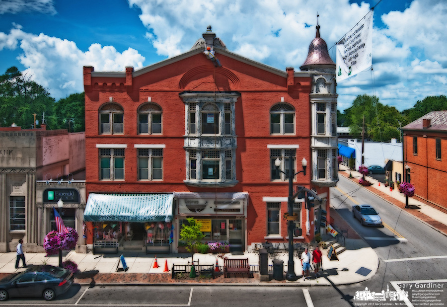 The Holmes Hotel in historic Uptown Westerville, Ohio, is shown in this photo illustration. Photo Copyright Gary Gardiner.