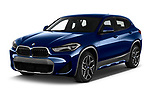 2020 BMW X2 M-Sport-X 5 Door SUV Angular Front automotive stock photos of front three quarter view