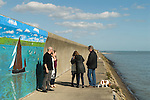 Canvey Island Essex, the sea wall 2016