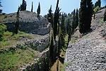 .Vrnik island near Korcula. marble carreer.Cruise in Croatia. Island of Dalmatia