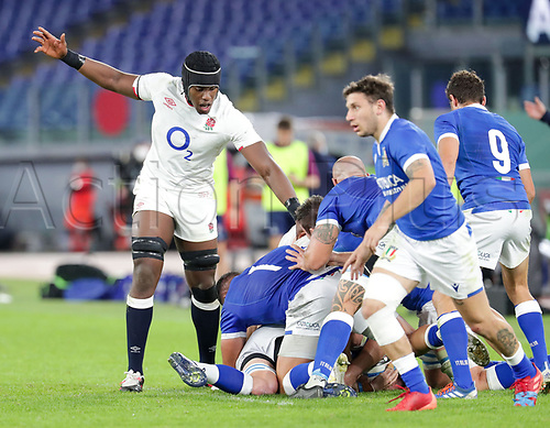 31st October 2020, Olimpico Stadium, Rome, Italy; Six Nations International Rugby Union, Italy versus England;  Maro Itoje (England)