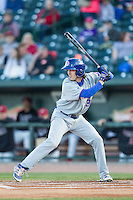South Bend Cubs outfielder Daniel Spingola (30) at bat against the Great Lakes Loons on May 18, 2016 at Dow Diamond in Midland, Michigan. Great Lakes defeated South Bend 5-4. (Andrew Woolley/Four Seam Images)
