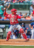 15 March 2016: Washington Nationals catcher Pedro Severino, ranked the 10th Top Prospect in the Nationals organization for 2016 by MLB, in action during a Spring Training pre-season game against the Houston Astros at Osceola County Stadium in Kissimmee, Florida. The Nationals defeated the Astros 6-4 in Grapefruit League play. Mandatory Credit: Ed Wolfstein Photo *** RAW (NEF) Image File Available ***