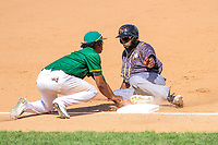 Quad Cities River Bandits outfielder Ronnie Dawson (12) slides into third base during a Midwest League game against the Beloit Snappers on June 18, 2017 at Pohlman Field in Beloit, Wisconsin.  Quad Cities defeated Beloit 5-3. (Brad Krause/Four Seam Images)