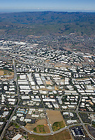 aerial photograph San Jose, Santa Clara county,Silicon Valley, California