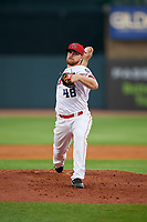 Louisville Bats relief pitcher Barrett Astin (48) during a game against the Columbus Clippers on May 1, 2017 at Louisville Slugger Field in Louisville, Kentucky.  Columbus defeated Louisville 6-1  (Mike Janes/Four Seam Images)