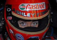 """Jan 20, 2007; Las Vegas, NV, USA; NHRA Funny Car driver Ashley Force during preseason testing at """"The Strip"""" at Las Vegas Motor Speedway in Las Vegas, NV. Mandatory Credit: Mark J. Rebilas"""