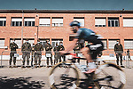 The start of Stage 9 of the Vuelta Espana 2020 running 157.7km from B.M. Cid Campeador. Castrillo del Val to Aguilar de Campo, Spain. 29th October 2020.   <br /> Picture: Unipublic/Charly Lopez | Cyclefile<br /> <br /> All photos usage must carry mandatory copyright credit (© Cyclefile | Unipublic/Charly Lopez)