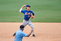 Branden Fryman (13) of Tate High School in Molino, Florida playing for the New York Mets scout team during the East Coast Pro Showcase on July 30, 2015 at George M. Steinbrenner Field in Tampa, Florida.  (Mike Janes/Four Seam Images)