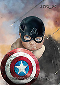 Fabrizio, Comics, CUTE ANIMALS, LUSTIGE TIERE, ANIMALITOS DIVERTIDOS, paintings+++++,ITFZ56,#AC#, EVERYDAY,captain america ,humor