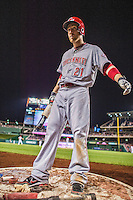 20 May 2014: Cincinnati Reds infielder Todd Frazier stands on deck during a game against the Washington Nationals at Nationals Park in Washington, DC. The Nationals defeated the Reds 9-4 to take the second game of their 3-game series. Mandatory Credit: Ed Wolfstein Photo *** RAW (NEF) Image File Available ***
