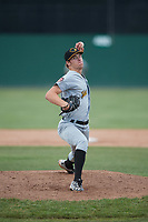 West Virginia Black Bears starting pitcher Ike Schlabach (28) delivers a pitch during a game against the Batavia Muckdogs on June 25, 2017 at Dwyer Stadium in Batavia, New York.  Batavia defeated West Virginia 4-1 in nine innings of a scheduled seven inning game.  (Mike Janes/Four Seam Images)