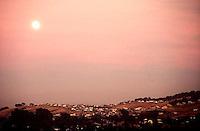 Full moon over homes in twin creeks area, july 1987.  &#xA;<br />