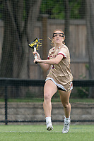 NEWTON, MA - MAY 16: Annie Walsh #3 of Boston College looks to pass during NCAA Division I Women's Lacrosse Tournament second round game between Temple University and Boston College at Newton Campus Lacrosse Field on May 16, 2021 in Newton, Massachusetts.