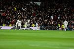 Real Madrid's Dani Carvajal celebrates goal during La Liga match between Real Madrid and Valencia CF at Santiago Bernabeu Stadium in Madrid, Spain. December 01, 2018. (ALTERPHOTOS/A. Perez Meca)