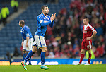 St Johnstone v Aberdeen...13.04.14    William Hill Scottish Cup Semi-Final, Ibrox<br /> Michael O'Halloran applauds the fans as he is subbed<br /> Picture by Graeme Hart.<br /> Copyright Perthshire Picture Agency<br /> Tel: 01738 623350  Mobile: 07990 594431