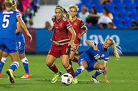 Finland's Emma Koivisto and Emmi Alanen and Spain's Alexia Putellas during the match of  European Women's Championship 2017 at Leganes, between Spain and Finland. September 20, 2016. (ALTERPHOTOS/Rodrigo Jimenez) NORTEPHOTO