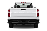 Straight rear view of 2021 Chevrolet Silverado-1500 WT 2 Door Pick-up Rear View  stock images