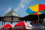 Umbrellas on Revere Beach, Revere, MA, USA