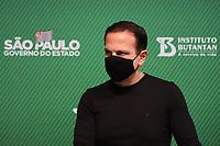 SÃO PAULO, SP, 31.05.2021 - COVID-19-SP - João Doria, Governador de São Paulo, apresenta informações sobre o combate ao coronavírus (COVID-19) em São Paulo, no Instituto Butantan, nesta segunda-feira, 31. (Foto Charles Sholl/Brazil Photo Press)