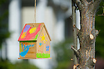 Colorful Hanging Birdhouse