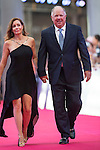 Mark O'Meara and his wife walk the Red Carpet event at the World Celebrity Pro-Am 2016 Mission Hills China Golf Tournament on 20 October 2016, in Haikou, China. Photo by Victor Fraile / Power Sport Images