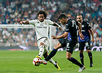 Marcelo Vieira Da Silva (L) of Real Madrid fights for the ball with Juan Francisco Moreno Fuertes, Juanfran, of CD Leganes during the La Liga 2018-19 match between Real Madrid and CD Leganes at Estadio Santiago Bernabeu on September 01 2018 in Madrid, Spain. Photo by Diego Souto / Power Sport Images